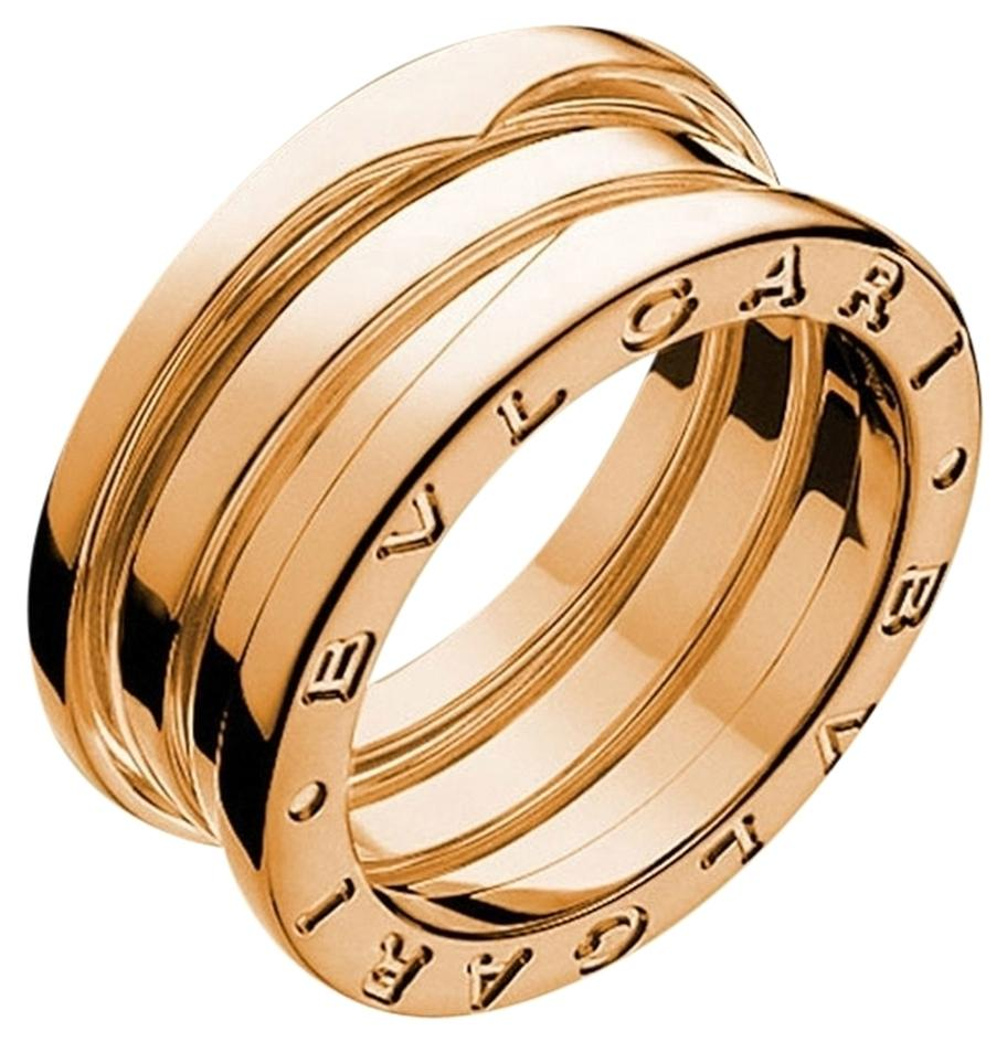 bvlgari bvlgari bzero1 18k rose gold 3 band ring an852405 us 9