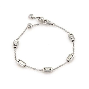 BVLGARI Bulgari Bvlgari Parentesi 18k White Gold Station Chain Link Bracelet