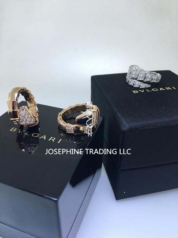 bvlgari white serpenti gold full pave diamonds an855116 large ring from jtradingllc on tradesy