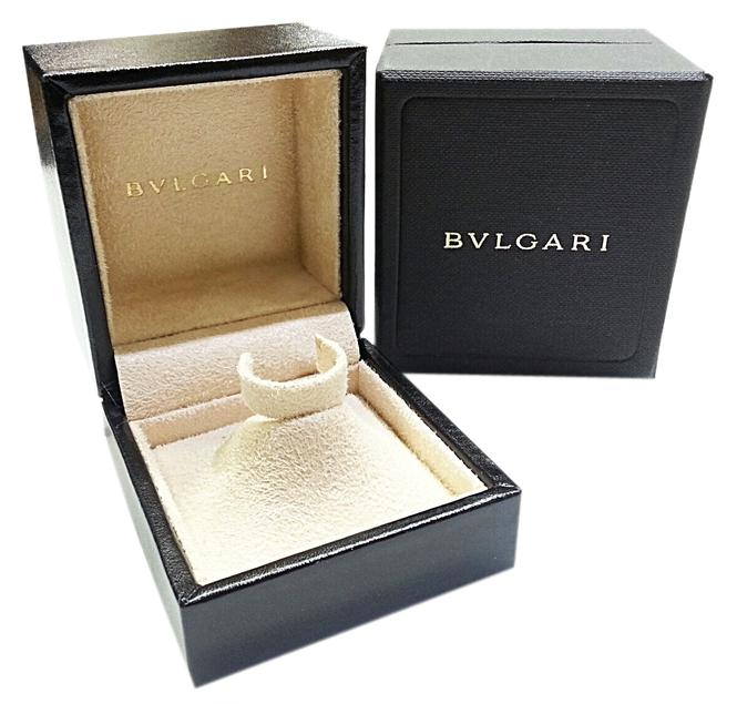 BVLGARI Leather Ring Box with Suede Pyramid Holder Tradesy
