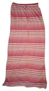 C&C California Maxi Cotton Maxi Skirt Red / white