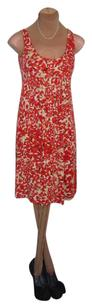 CAbi short dress RED PRINT Sweet Look Comfortable on Tradesy
