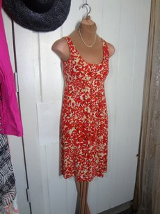 CAbi short dress RED VINTAGE INSPIRED PRINT Sweet Look Comfortable on Tradesy