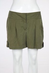 Cache Womens Solid Dress Shorts Green