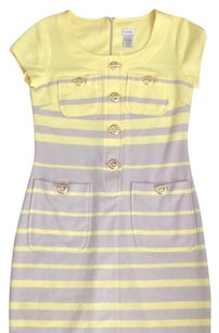 Cache short dress yellow gray gold on Tradesy