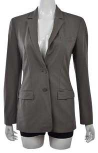 Calvin Klein Calvin Klein Womens Gray Blazer Long Sleeve Wool Career Jacket Wtw