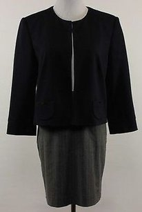 Calvin Klein Calvin Klein Womens Navy Cropped Blazer 34 Sleeve Basic Jacket Care