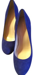 Calvin Klein Cd Reptile Snake Pumps Royal Blue & Black Formal