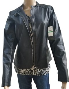 Calvin Klein Collection Zip Hand Pockets Motorcycle Jacket