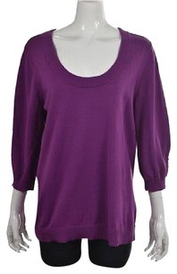 Calvin Klein Womens Scoop Neck Cotton Shirt Sweater