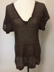 Calvin Klein Lacey Open Weave Sweater