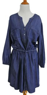 Calvin Klein short dress Blue Chambray on Tradesy