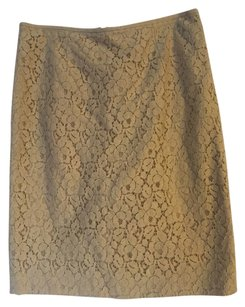 Calvin Klein Spring Summer Lace Work Beige Skirt Tan
