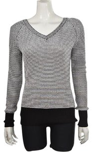 Calvin Klein Womens White Textured Cotton Casual Sweater