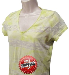 Calvin Klein Tee Shirt T-shirt Top Yellow