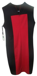 black/red Maxi Dress by Calvin Klein