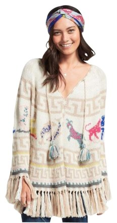 30%OFF Calypso St. Barth Steenba Baby Alpaca Poncho Sweater - 67% Off Retail