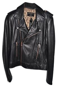 Calypso St. Barth Marti X Dani Stahl For Calypso St. Barth Lamb Leather Black Motorcycle Jacket