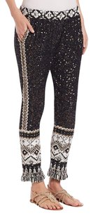 Calypso St. Barth Tamrita Sequin Relaxed Pants Black