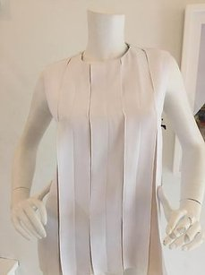 Camilla and Marc Pleated Top White/Cream
