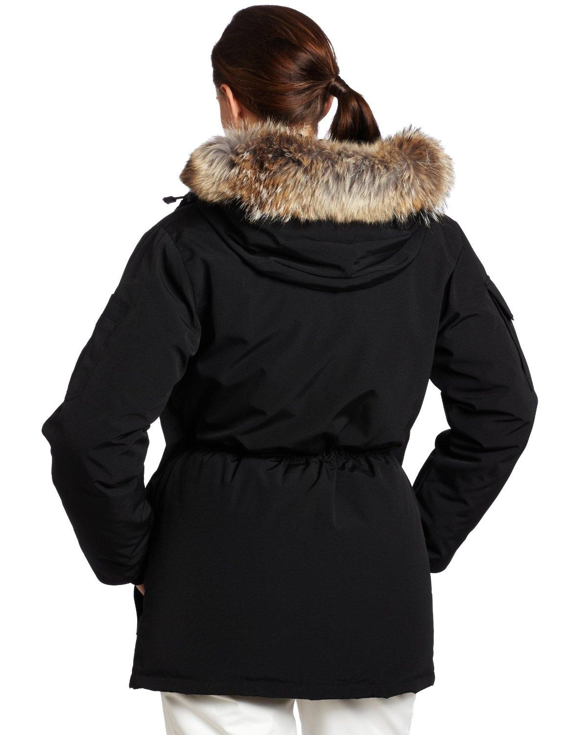 c26231d1 ... australia canada goose black expedition down parka womens puffy ski coat  size 8 m tradesy b20c9 ...
