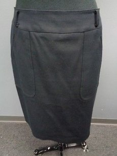 Carlisle Blend Lined Fitted Pencil Sma2063 Skirt Black