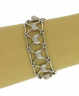 Carrera y Carrera Carrera Y Carrera 18k White Gold Diamonds Cherub Ladies Bracelet-7.25 Long