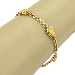 Carrera y Carrera Carrera Y Carrera 18k Yellow Gold Five Frogs Charm Round Chain Bracelet