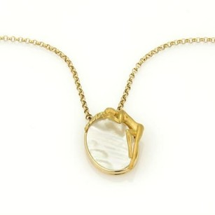 Carrera y Carrera Carrera Y Carrera 18k Ygold Mother Of Pearl Nymph Oval Pendant Necklace