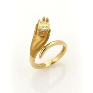 Carrera y Carrera Carrera Y Carrera Diamonds Dice In Hand 18k Yellow Gold 3d Ring