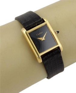 Cartier Cartier 18k Gold Electro Plated Tank Ladies Wrist Watch