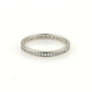 Cartier Cartier 18k Platinum Full Circle Diamonds Eternity Band Ring Eu 46-us 3.75