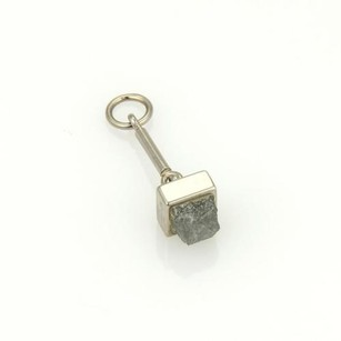 Cartier Cartier 18k White Gold 1ct Rough Diamond Square Shape Charm Pendant