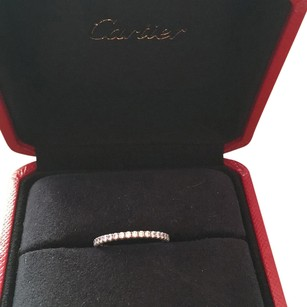 Cartier CARTIER 18k White Gold Diamond Eternity Ring 51 5.75