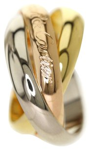 Cartier CARTIER 18K Yellow Gold/Rose Gold/White Gold Trinity Ring US Size 5.25