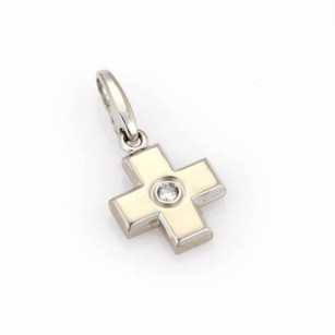 Cartier Cartier 18kt White Gold Diamond Cross Charm Pendant