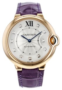 Cartier Cartier Ballon Bleu 36mm WE902028 18K Rose Gold Diamond Dial Watch for Women CRTRBB2