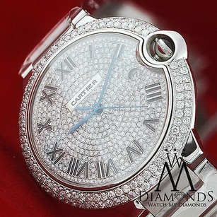 Cartier Cartier Ballon Bleu De Cartier Diamond Pave Dial Stainless Steel Watch