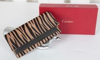 Cartier Cartier Brown Pony Hair Animal Print Tiger Striped Clutch Wallet