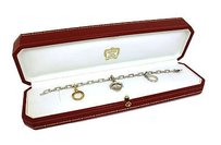 Cartier Cartier Diamonds 18k Tri-color Gold Drop Charm Spartacus Chain Link Bracelet