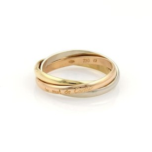 Cartier Cartier Trinity 18k Tri-color Gold 2.5mm Rolling Band Ring Eu 62-us