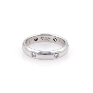 Cartier Cartier Stella Diamonds 18k White Gold Dome Band Ring Eu 50-us