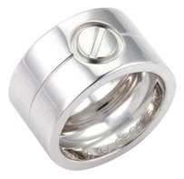 Cartier Cartier High Love 18k White Gold 11mm Wide Band Ring - 50-us 5.25