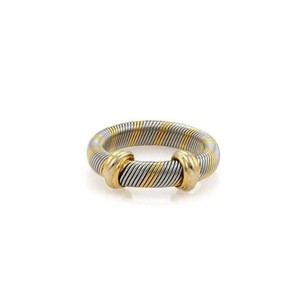 Cartier Cartier Trinity 18k Yellow Gold Steel 4mm Wire Band Ring Eu 49-us