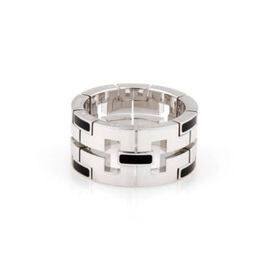 Cartier Cartier 18k White Gold Dragon 11mm Band With Black Enamel - - - 6.75