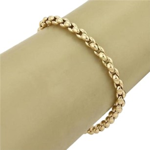Cartier Cartier 18k Yellow Gold Cluster Fancy Beady Link Bracelet 7.5 Long Cert.