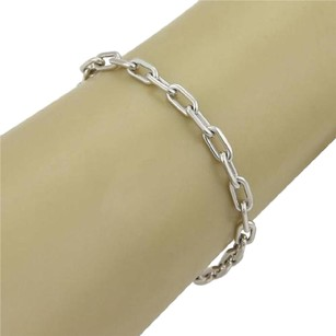 Cartier Cartier Spartacus Link Oval Chain Bracelet In 18k White Gold - 7.5