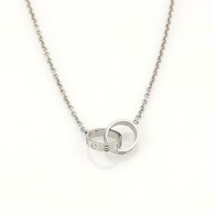 Cartier Cartier Baby Love Infinity Double Ring Pendant Necklace In 18k White Gold