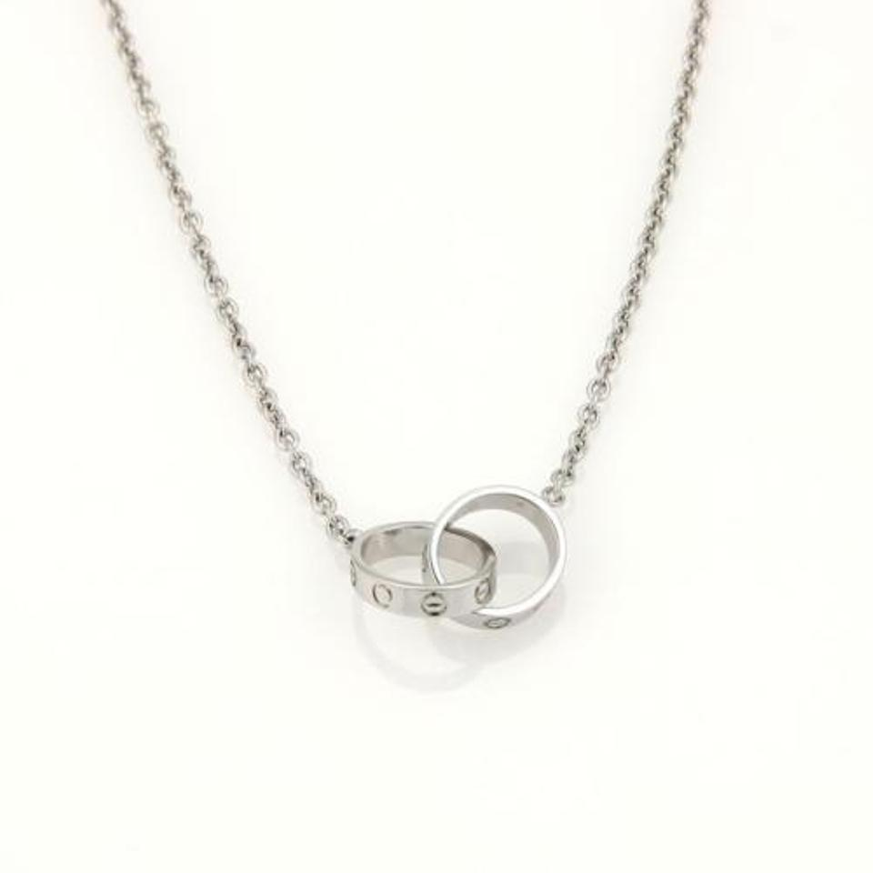 Cartier Infinity Bracelet: Cartier Baby Love Infinity Double Ring Pendant Necklace In