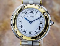 Cartier Cartier Ladies 18k Gold And Ss Santos Swiss Made Luxury Watch C2000 D126